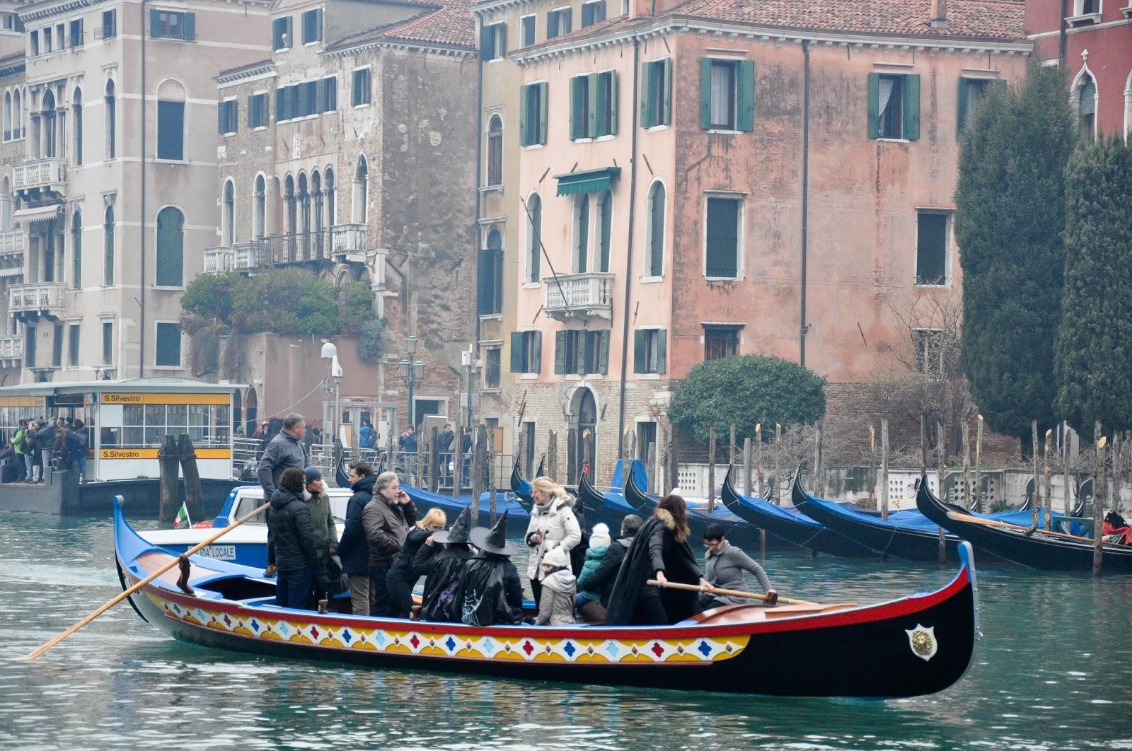 The revellers' boat, Befana race, Venice, Italy