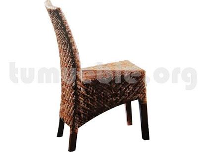silla comedor en rattan natural j921