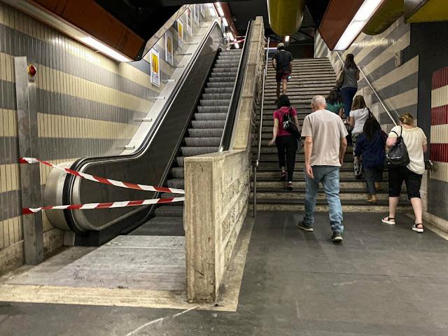 Già da gennaio era nota la possibile chiusura della Metro B per le scale mobili