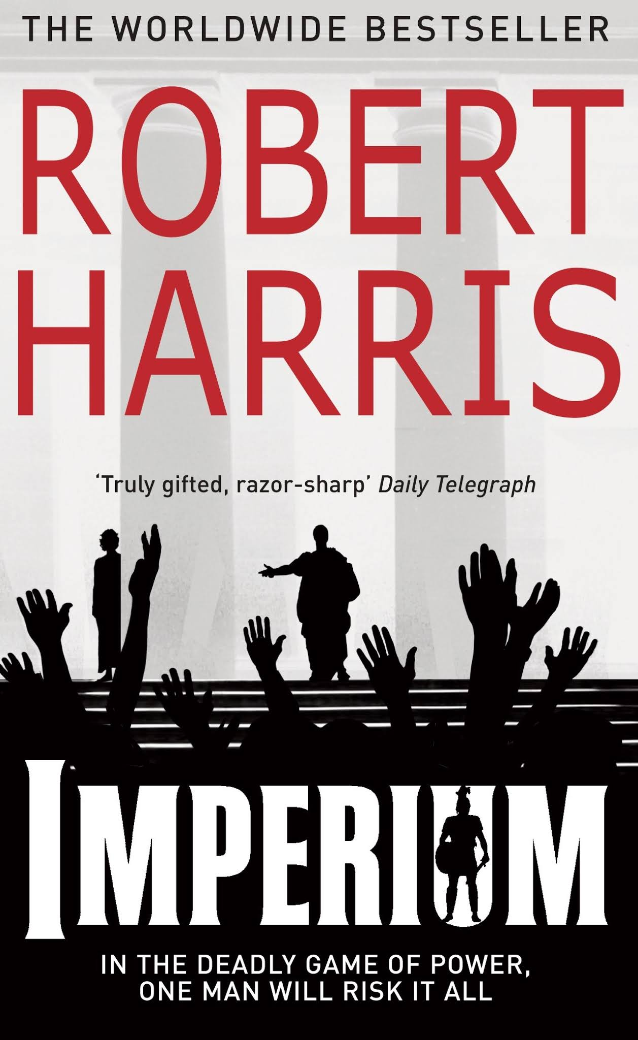 Book cover for Imperium by Robert Harris Imperium in the South Manchester, Chorlton, Cheadle, Fallowfield, Burnage, Levenshulme, Heaton Moor, Heaton Mersey, Heaton Norris, Heaton Chapel, Northenden, and Didsbury book group