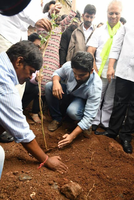Allu arjun tree planting with family in haritha haram