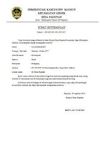 Contoh Surat Keterangan Usaha Dari Desa Atau Kelurahan