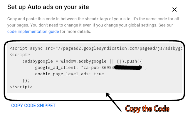 Auto-ads Adsense code
