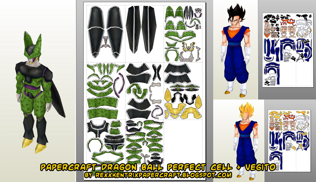 Ball Dragon Papercraft Templates