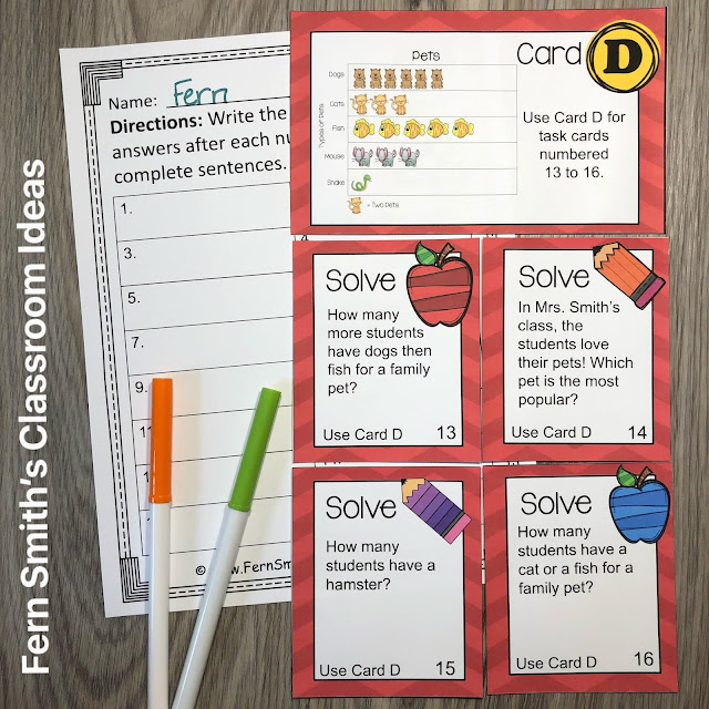 Click Here to Download This 3rd Grade Math Use Picture Graphs Task Cards Resource for Your Classroom Today!