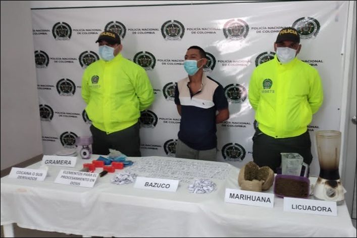 https://www.notasrosas.com/Seccional de Investigación Criminal decomisa cocaína, marihuana y bazuco en Bosconia