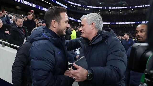 Jose Mourinho and Frank Lampard before Tottenham vs Chelsea Premier League match