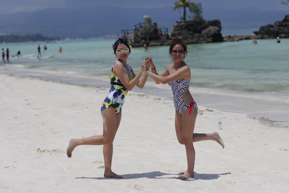 at Boracay station 1 where you can resist the white sand and beach