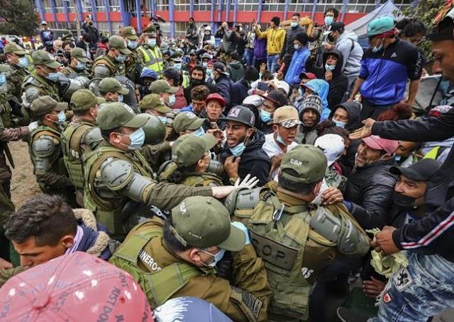 Violento desalojo de migrantes en el norte de Chile