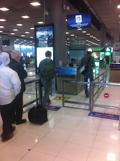 immigration am Flughafen Suvarnabhumi in Bangkok