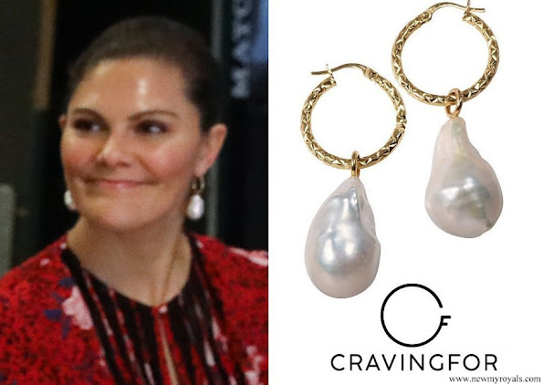 Crown Princess Victoria wore Cravingfor Jeweller Stockholm Baroque Pearl Earrings