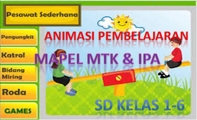 Animasi Pembelajaran SD Mapel Matematika dan IPA Kelas 1-6