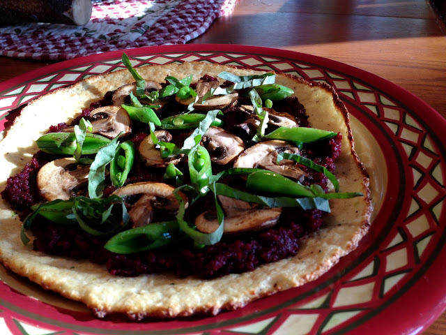 Beet & Mushroom Flatbread #beautybeyondbones #edrecovery #glutenfree #vegan #paleo #food #summer