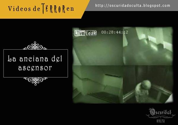 Fantasma de una anciana en el ascensor - Videos de Terror