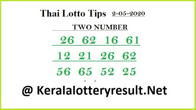 Thai Lotto Tips Today 2-05-2020  @ keralalotteryresult.net