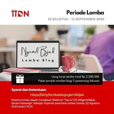 banner lomba blog ngemil bijak iidn x mondelez indonesia