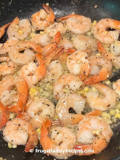 Cooked shrimp and corn