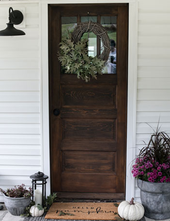 Be inspired to decorate your own front porch or patio for fall with these simple ideas.