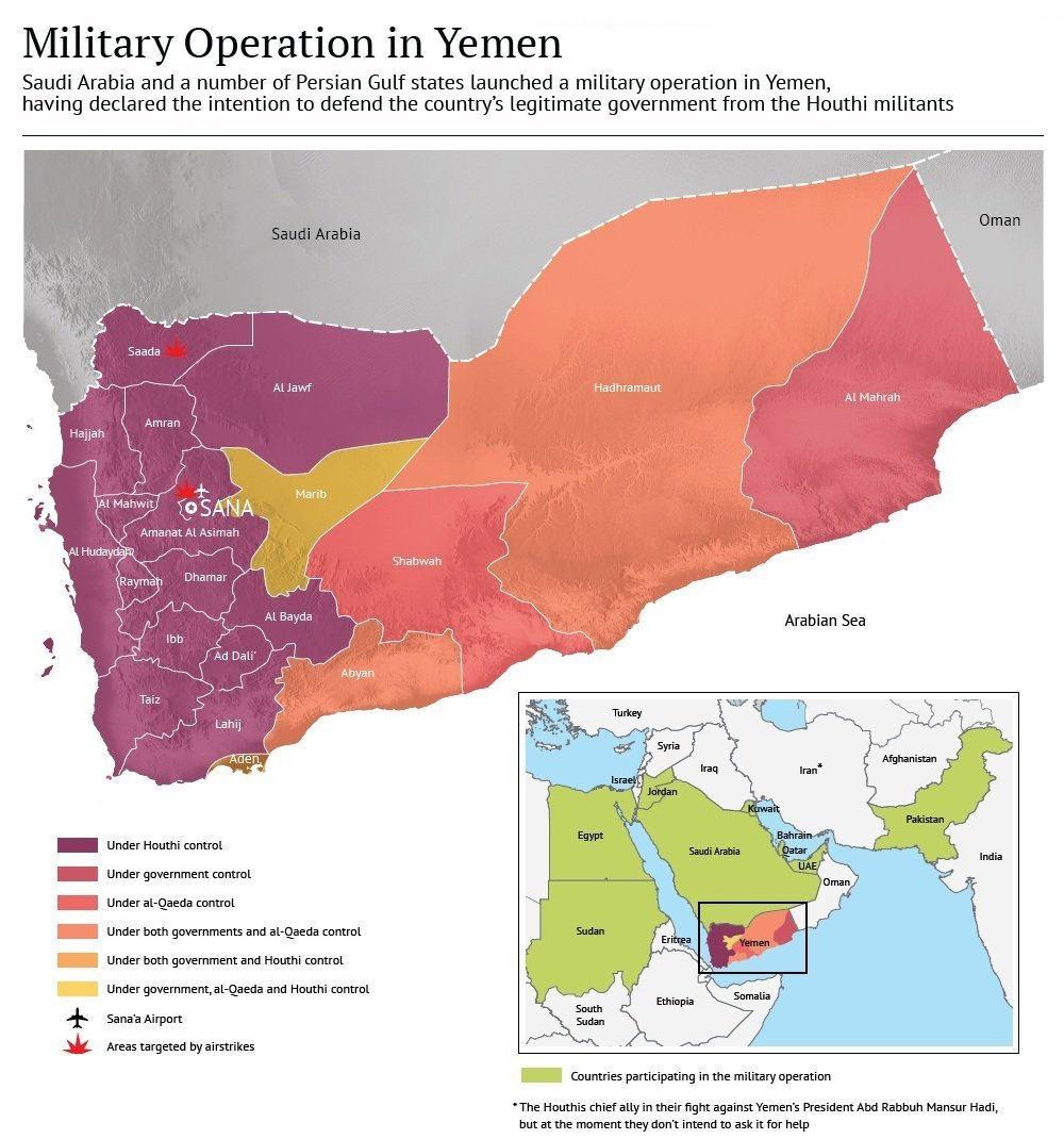 Ємен поділений між кількома ворогуючими угрупованнями