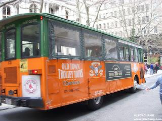 Boston Old Town Trolley Tour的觀光電車