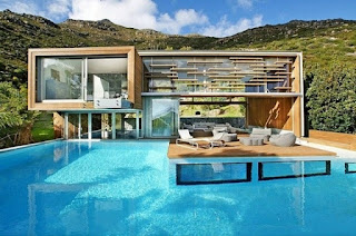 moderne häuser mit schwimmbad
