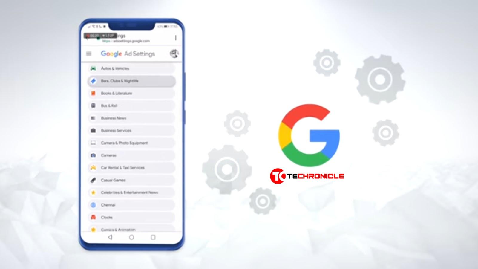 Google Activity Mobile Screen