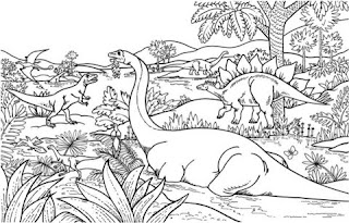 Adorable Dinosaur World Coloring Pages