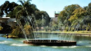 Chafariz do Parque Jonas Ramos, o Tanque, em Lages