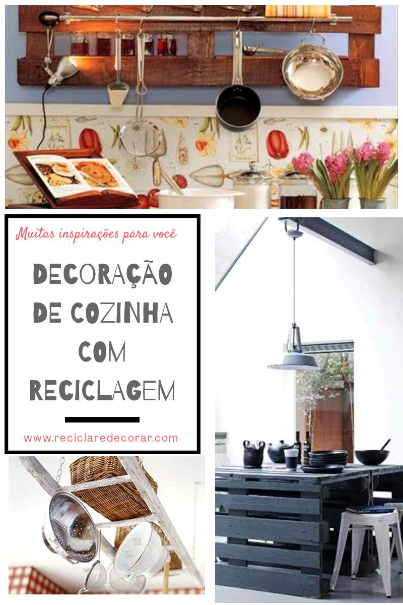 Decoração de cozinhas com reciclagem, reciclagem para cozinha, decorar cozinha gastando pouco com reciclagem