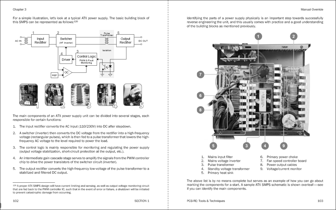 The Art Of Pcb Reverse Engineering Tools Techniques A Good Circuit Schematic Diagram Fan Speed Control In My Search For That Best Illustrates Smps Design Aspect An Atx Model I Found One Suits Expectation Terms Layout