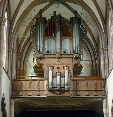 The historic Silberman organ at Abbaye Saint-Étienne, Marmoutier, France