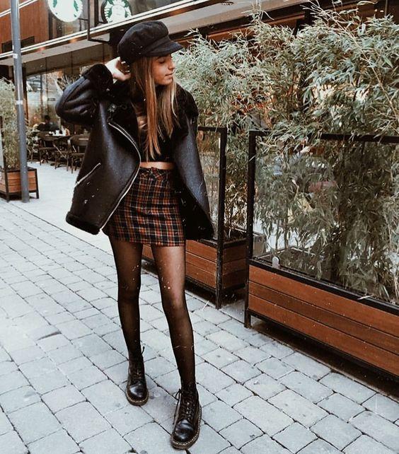 Looks de inverno com saia