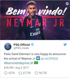Neymar joins psg pic