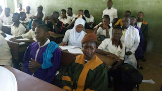 Students wearing church garments to schools in Osun