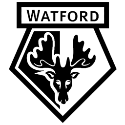 Logo Dream League Soccer Watford FC Hitam Putih