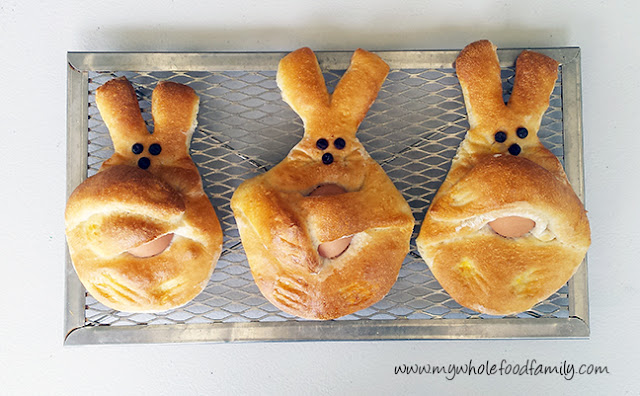 Dutch Easter Bunny Bread from www.mywholefoodfamily.com