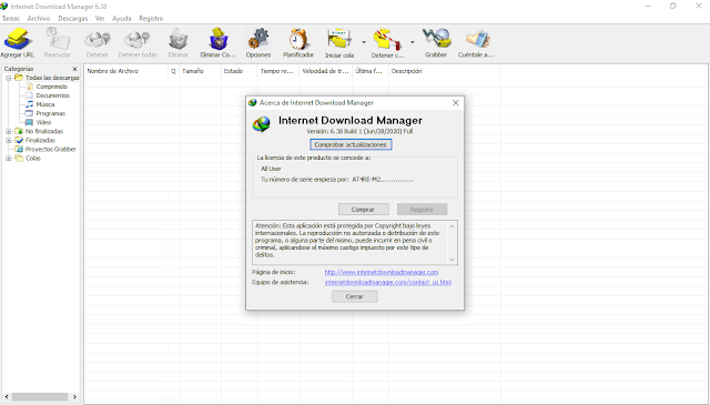Internet Download Manager 6.38 ACTIVADO