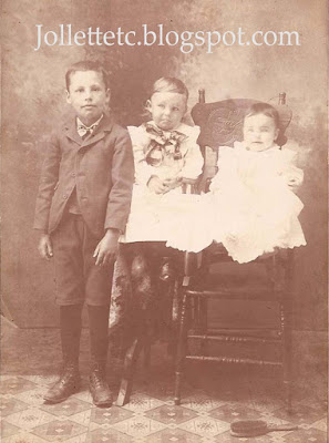 Millard, Orvin, Josy about 1902 https://jollettetc.blogspot.com