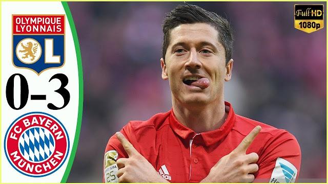 ملخص مباراه بايرن ميونخ وليون 3-0 دوري ابطال اوروبا 2020