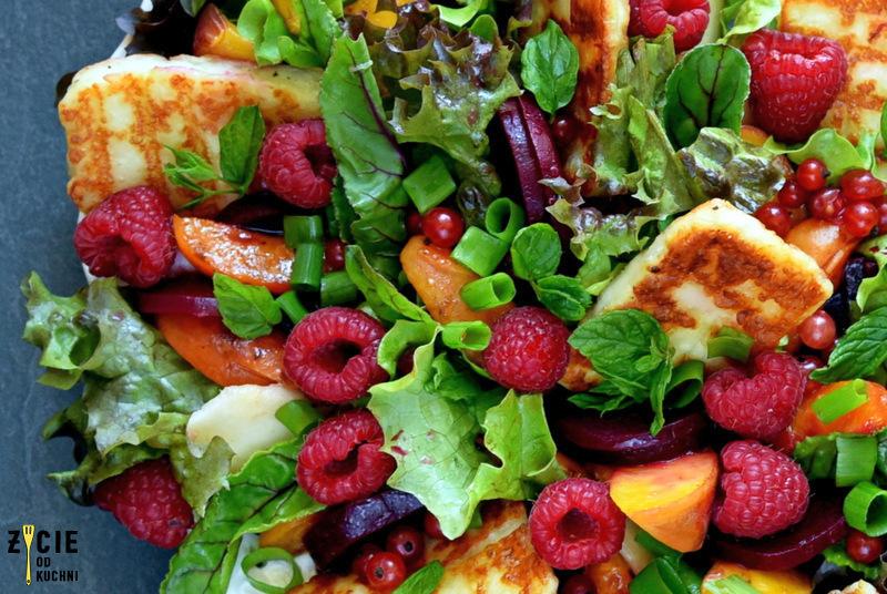 ser haloummi, kuchna lidla, salatka owocowa, salatka do grilla, przepisy z halloumi, marynowane buraki, wytrawna salatka owocowa, do grilla, zycie od kuchni