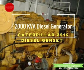 2000 KVA, Diesel Generator, Caterpillar 3516, used, second hand,industrial, marine, 50 Hz, 1500 RPM