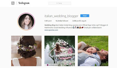 italian wedding influencer instagram