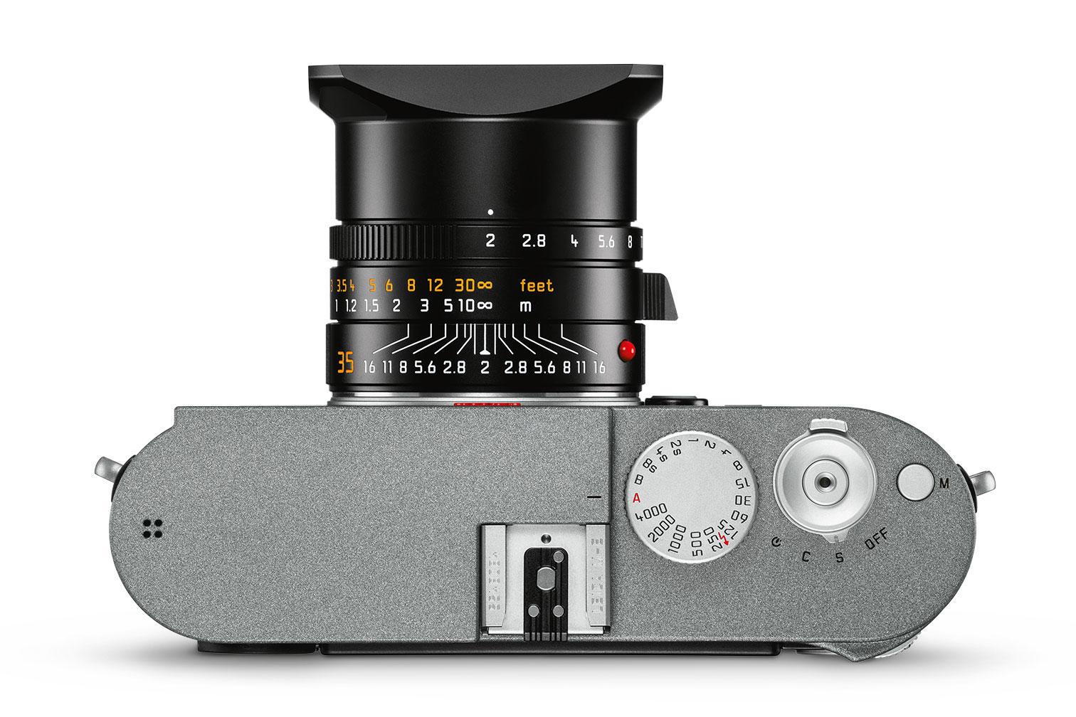 Leica M-E (Typ 240), вид сверху