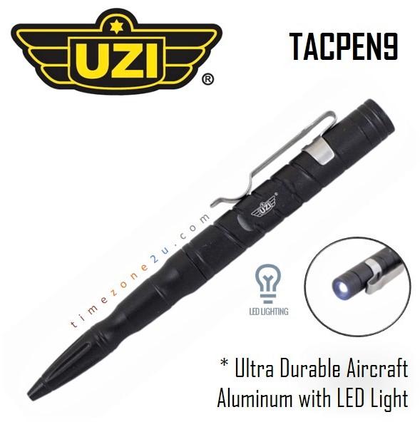 UZI Tactical Defender Pen with Striking Point Gun Metal Grey