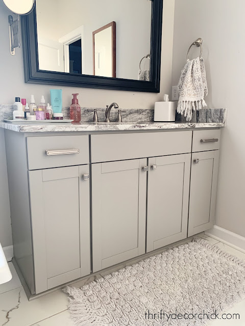 light gray bathroom vanity no drawers
