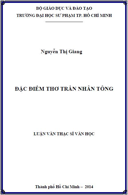 Đặc điểm thơ Trần Nhân Tông