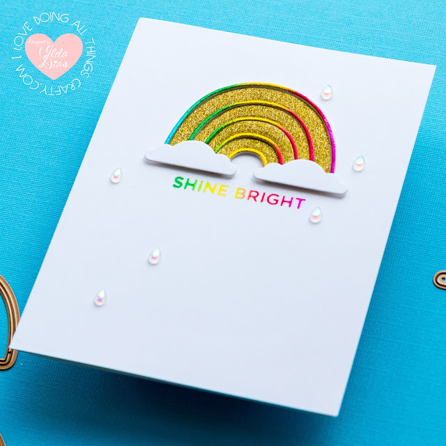 card making, Colorful Day, Rainbow Inspired, Friendship Card, Glimmer Hot Foil Kit of the Month, ilovedoingallthingscrafty, Inspiration Cards, Spellbinders, Card Making, Die Cutting, handmade card, how to,
