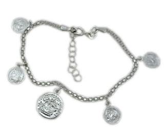 Bransoletka charms monety srebro 925
