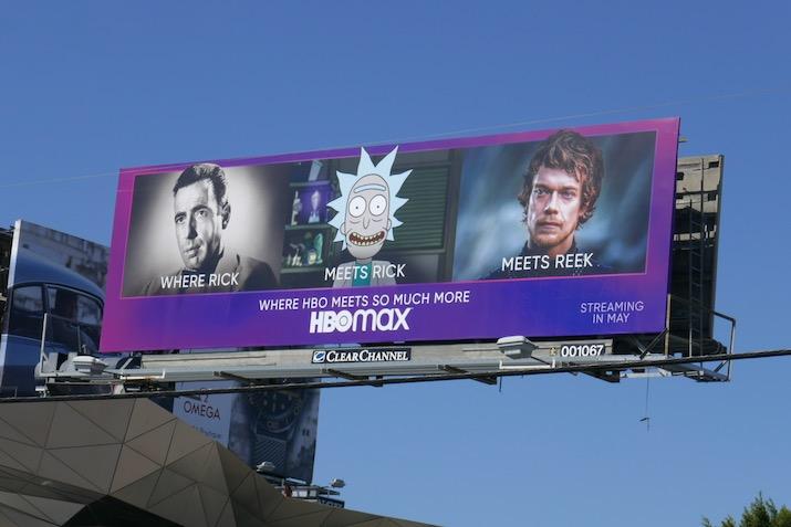 HBO Max Where Rick meets Rick meets Reek billboard