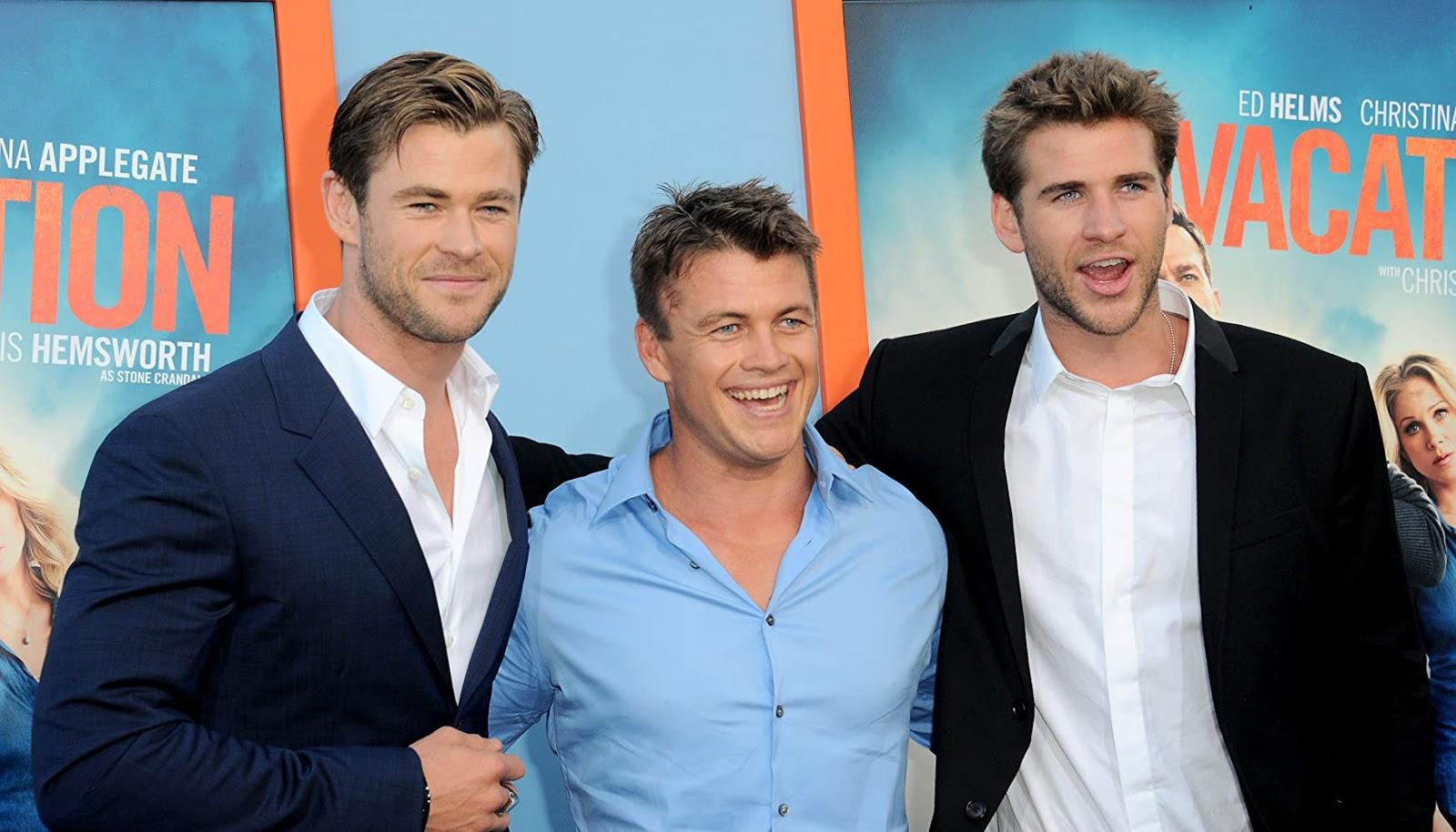 Chris Hemsworth, Luke Hemsworth, and Liam Hemsworth